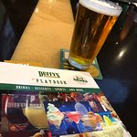 Cold beer and a Duffy's menu...