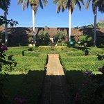 EL mejor jardin que vi en un hotel