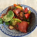 Tomato salad- brilliant (ok, with a sneaky side of black pudding!)
