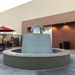 Outdoor seating with Fountain