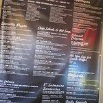 the menu board