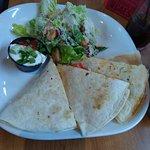 Chicken Quesadilla  with Caesar salad