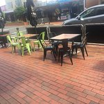 Sidewalk dining available.