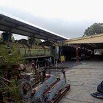 Steam loco and platform