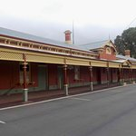 Nicely painted station building