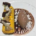 Poire chocolatffilet de saint Pierre