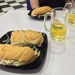 Lush Cajun Chicken roll... Prime chicken breast..great flavors and great banter with the owner..