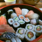 to die for, finger licking sushi, sashimi, nigri served with pickled ginger, wasabe, soy sauce