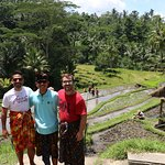 On the rice fields with Gusti
