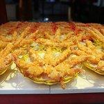 Delicious prawn tempura
