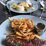 Bœuf, frites maison - aile de raie