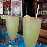 The best Margaritas, 100% Blue Agave Tequila, Cointrau, fresh lime juice and organic agave necta