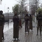 Famine Sculptures- cold, rainy day in Dublin