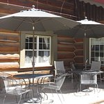 Outside seating with cooling mister system