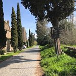 Appian Way (running from Rome South East to Brindisi) at entrance to the restaurant.