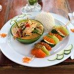 Coco Loco Shrimp, great presentation.