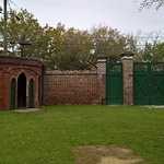 exterior wall and gate