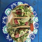 Seared ahi fish tacos are fantastic!