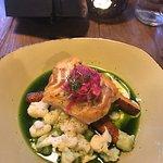 Delicious cod fillets in Salt kitchen bar.
