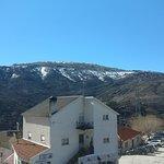 Vista do nosso quarto para a montanha