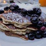 Pancake Ricotta crème fraiche & myrtilles
