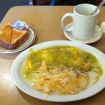 green chile omelet.