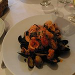 Black Linguine (squid ink) with Seafood