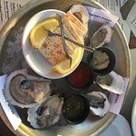 We sent our steak back. The waitress was very nice. Oysters were great