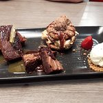 A platter of Desserts. All Delicious