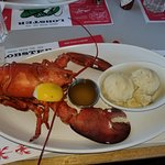 Lobster with mashed potatoes
