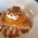 Delicious peach millefeuille