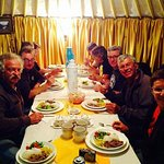 dinner  in a Family guest house
