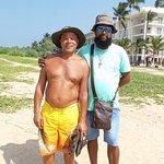 Suranga find him on the beach
