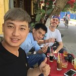 Drinking coffee with Vien and his friend