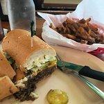 Roast Beef Po-Boy and a side of Debris fries