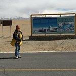 the billboard of Mt Kailash