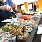 Deilig og velassortert sushi nede i havna i Steinkjer! Anbefales!