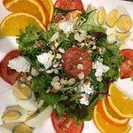Salades et déco saint valentin