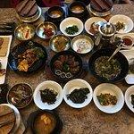 Mittagstisch traditionell koreanisch