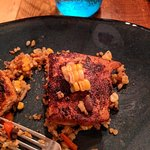Southwest Salmon with corn sliced from the cob in a bed of quinoa, black beans be and kale, and