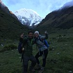 Our guide, Isaias, and my daughter pose for a picture. Isaias was capable, friendly, & knowledga