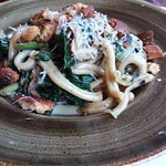 Hand-made pasta: Casarecce with rabbit