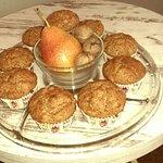 Pear and walnut muffin
