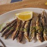 sardinas pequeñas tipo parrochas en su punto.