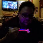 Sabre chopsticks Luke/ Yoda background