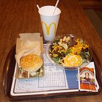 Soft Drink, 1/4-pounder, Southwest Salad for Dinner McDonald's, S. 4th Avenue at West 26th St, Y