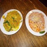 Singapore Rice Noodles (left) and Pad Thai (right) at Asian Star, Yuma, AZ.