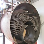 Steam Boiler cut in half