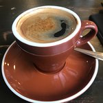 I always love a coffee with a crema! And the quantity and quality of the food was absolutely ama