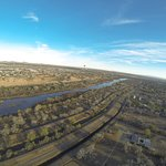 The Rio Grande and Bosque in Albuquerque.
